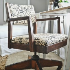 Old Wooden Desk Chair Lounge Cushions Target Vintage Makeover Addicted 2 Decorating But Of Course This Wasn T A Costly Purchase From Pottery Barn She Found The About Year Ago And It Looked Little Different Than