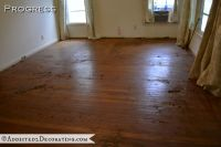 Goodbye, Green Carpet! Hello, Original Hardwood Floors!