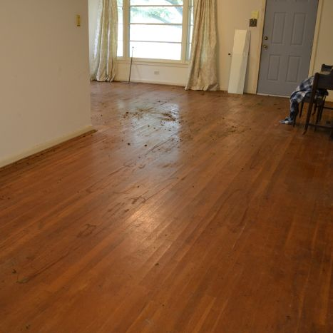 Wet Sanding Wood Floors