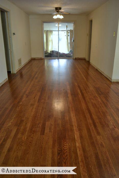 Kitchen Progress  Painted Striped Hardwood Floor