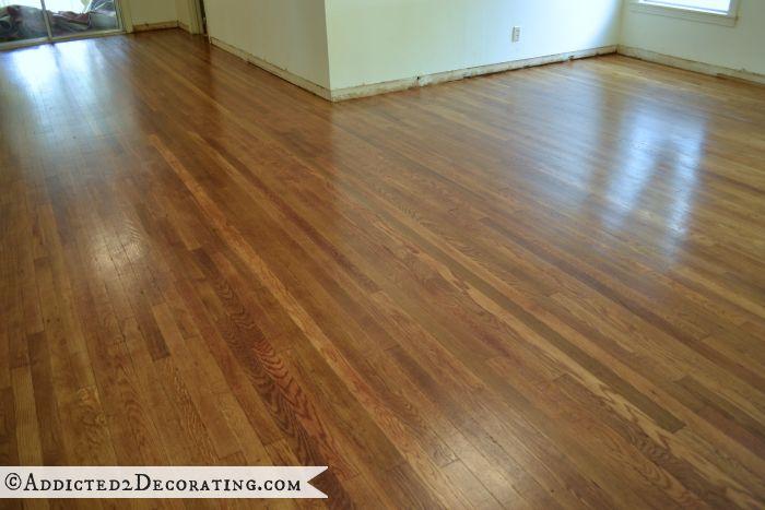 My DIY Refinished Hardwood Floors Are Finished  Addicted 2 Decorating