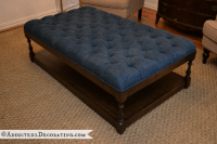 DIY Ottoman Coffee Table  FINISHED!!