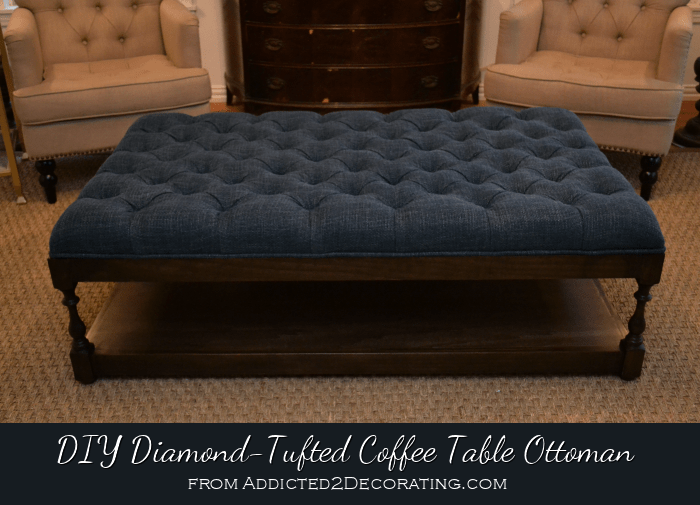 diy ottoman coffee table finished