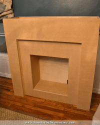 DIY Fireplace Part 3  Creating A Faux Brick Fire Box With ...