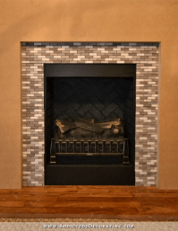 DIY Fireplace Part 4  The Finished Brick Fire Box And