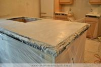 DIY Pour In Place Concrete Countertops  Part 2