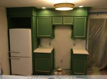 Refrigerator Wall Cabinets Finished