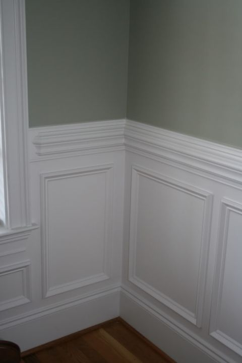 picture frame moulding below chair rail egg outdoor beautiful molding wall trim ideas for my living room and entryway traditional wainscoting with contrasting color above the