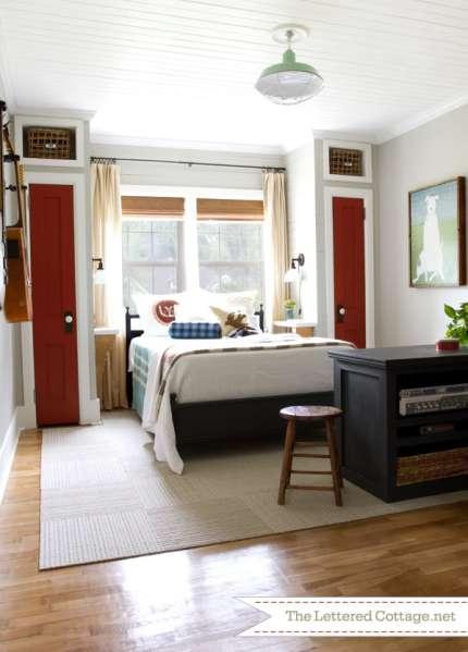 home office guest bedroom design ideas The Condo Bedroom – Bedside Closet Design