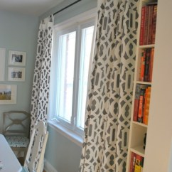 Curtains For My Living Room West Elm Ideas A Possibility Painted And Stenciled Curtain From The Sweetest Digs Blog