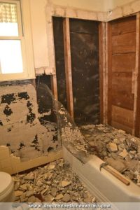 Hallway Bathroom Demolition Day 1