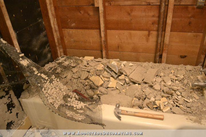 Hallway Bathroom Demolition Day 1