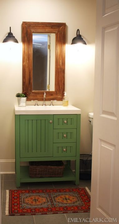 Be Inspired To Paint Your Bathroom Vanity a nonneutral