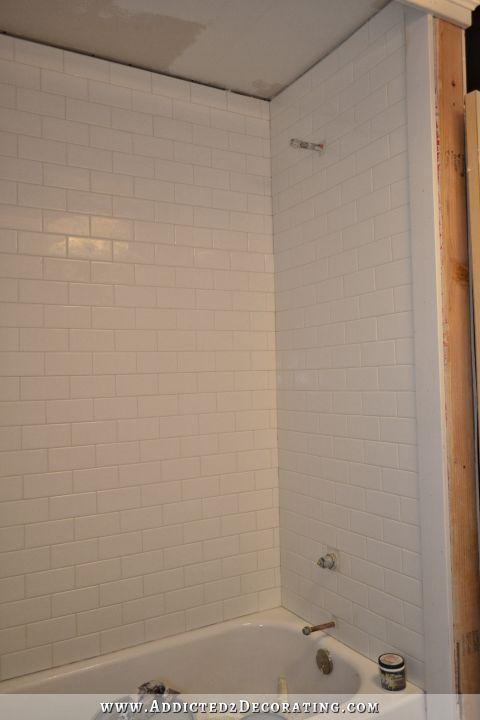 subway tile bathtub surround addicted