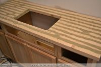 DIY Butcher Block Countertop Made For Under $30