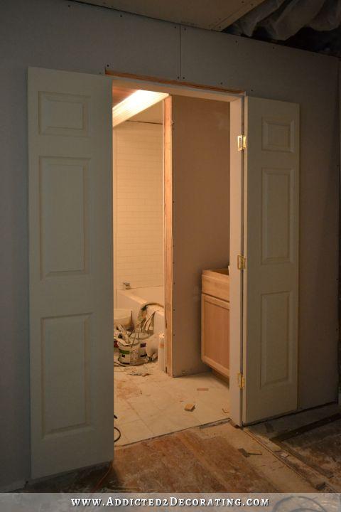 Bathroom Progress Bi Fold Closet Doors Installed As