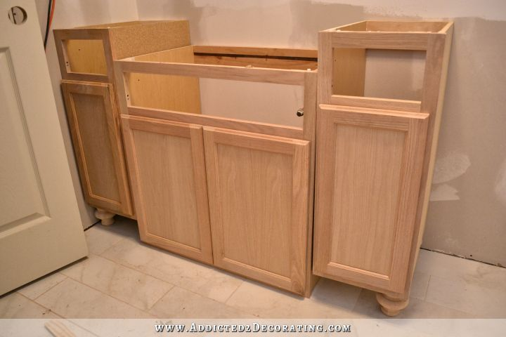 Furniture Style Bathroom Vanity Made From Stock Cabinets Part 1 Addicted 2 Decorating