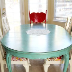 Green Dining Room Table And Chairs Wedding Chair Covers Navy Blue Colorful Painted Inspiration Addicted 2 Decorating Via The Sassy Pepper
