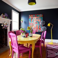 Colorful Kitchen Table Kohler Simplice Faucet Painted Dining Inspiration Addicted 2 Decorating Colors For Kitchens And Tables Via Desire To Inspire
