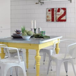 Colorful Kitchen Table Butcher Block Painted Dining Inspiration Addicted 2 Decorating Via Sanna Sania