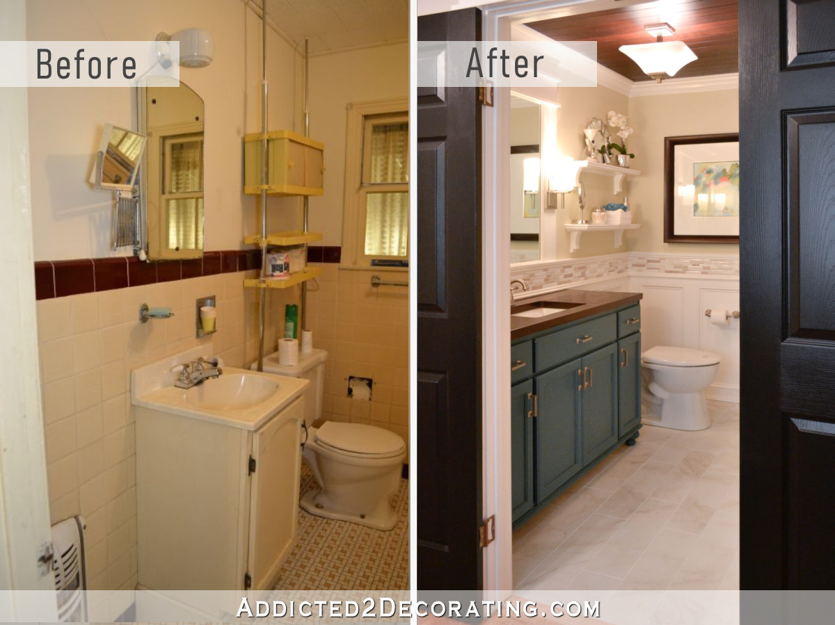 Hallway Bathroom Remodel Before  After  Addicted 2