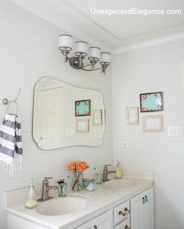 ceiling decorating ideas - simple painted border, from Unexpected Elegance blog