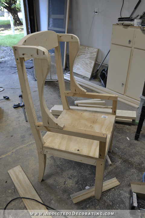 DIY Wingback Dining Chair  How To Build The Chair Frame
