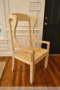 DIY Wingback Dining Chair - How To Build The Chair Frame ...