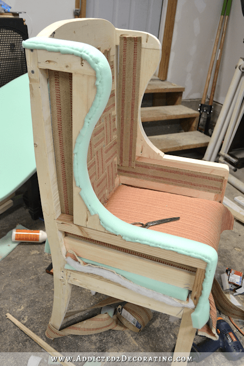 DIY Wingback Dining Chair  How To Upholster The Frame