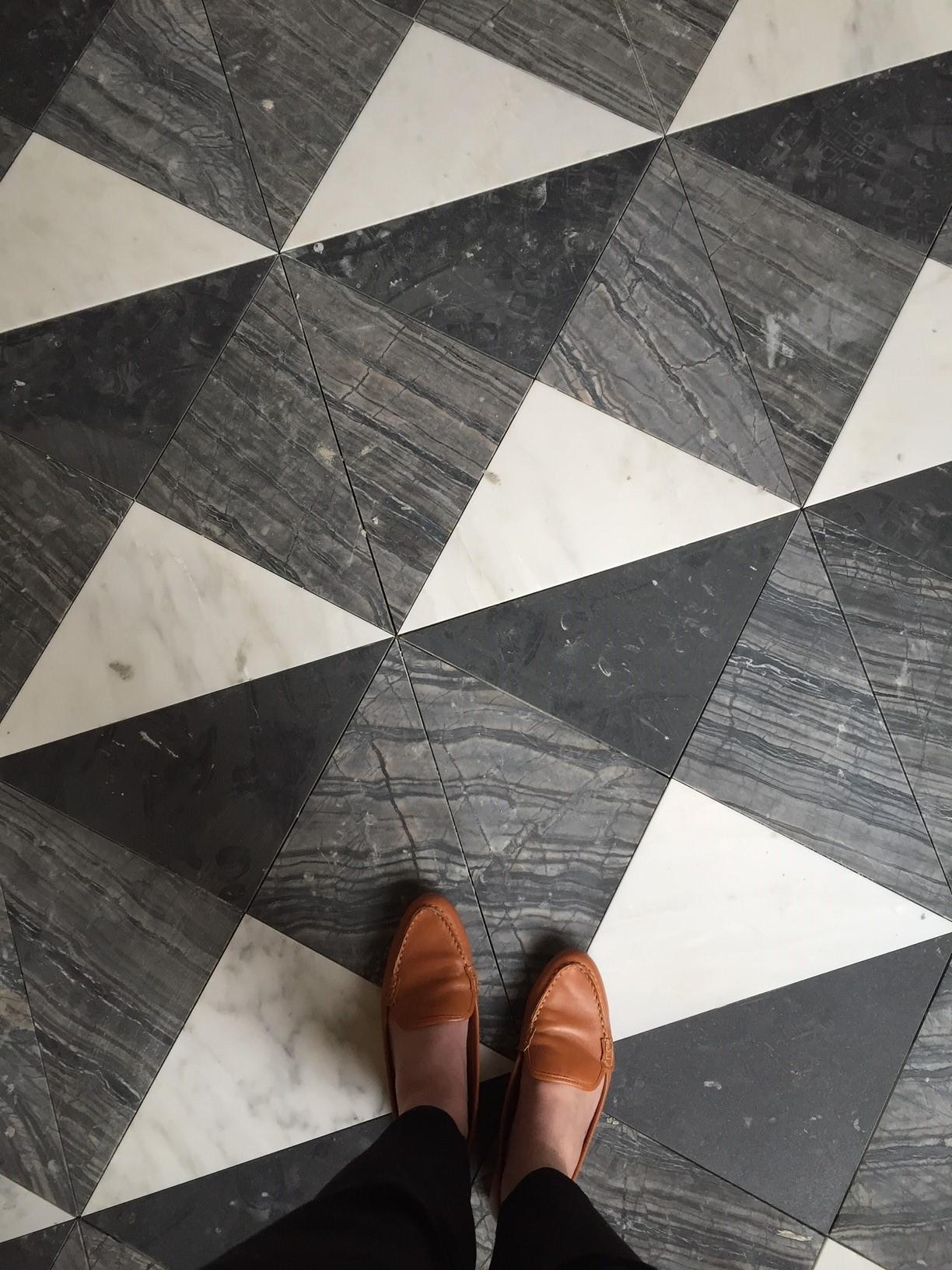 Black & White Patterned Floors