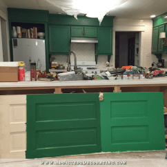 Repainting Kitchen Cabinets Wall Mount Light Fixtures Testing New Kelly Green Paint Colors (for My ...