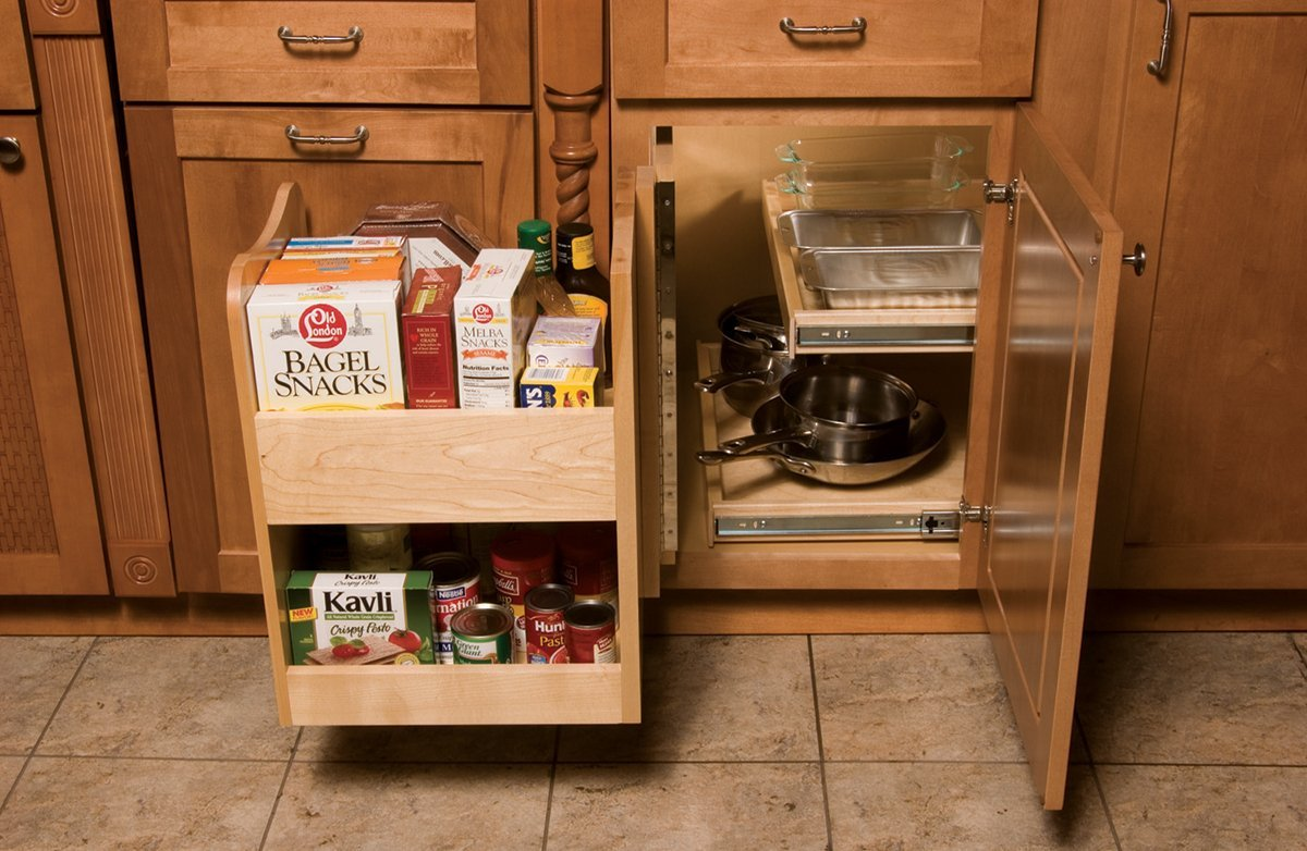 kitchen corner cabinet storage round table for 6 blind pull out shelf roselawnlutheran