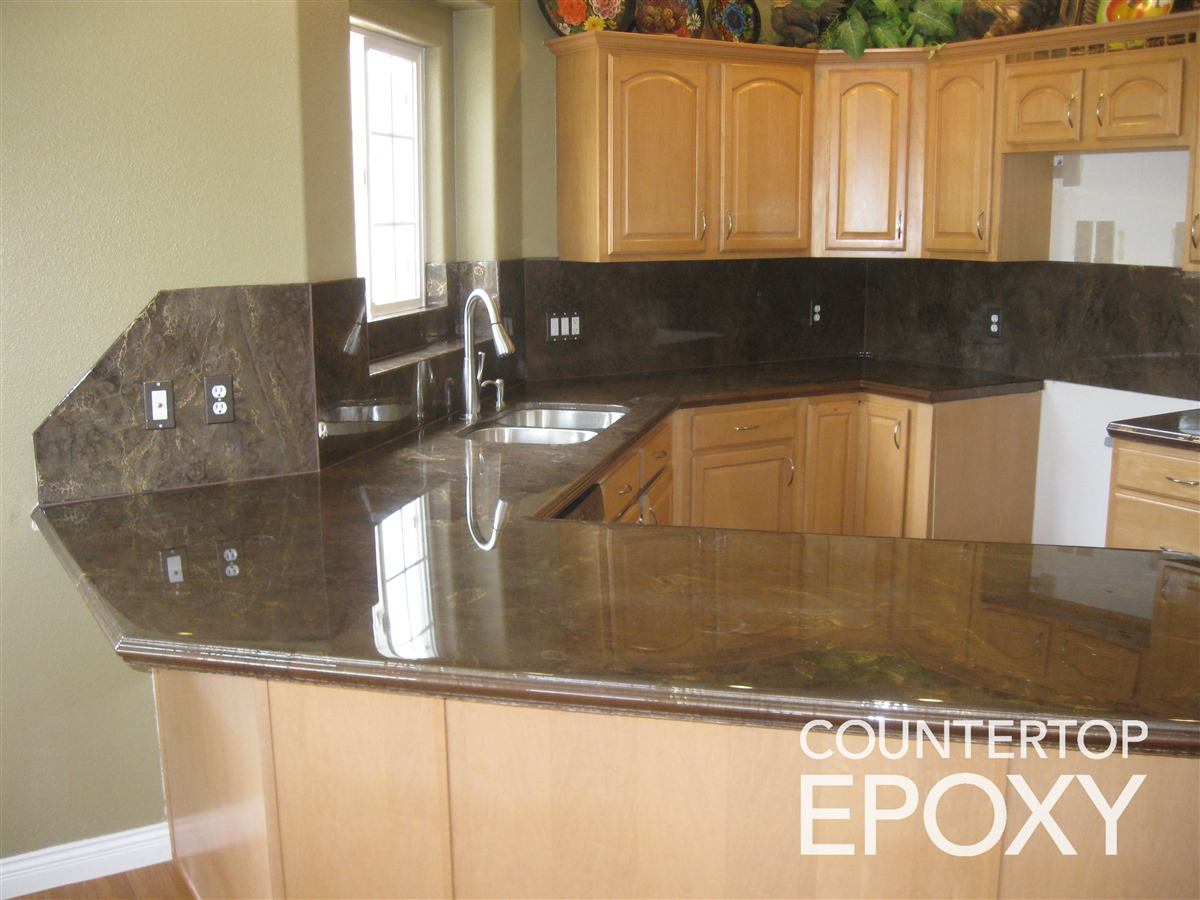 kitchen countertop cover used two more options epoxy and polyurea addicted 2 decorating bronze