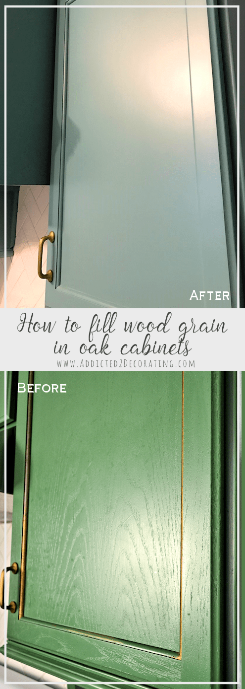 How To Fill Wood Grain On Oak Cabinets Before Painting