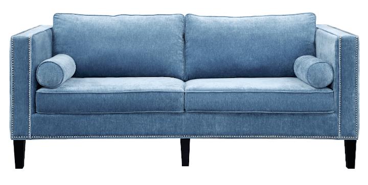 sofa options for living room cooper blue velvet