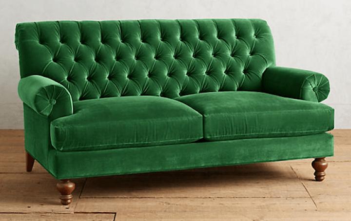 sofa options for living room velvet fan pleat