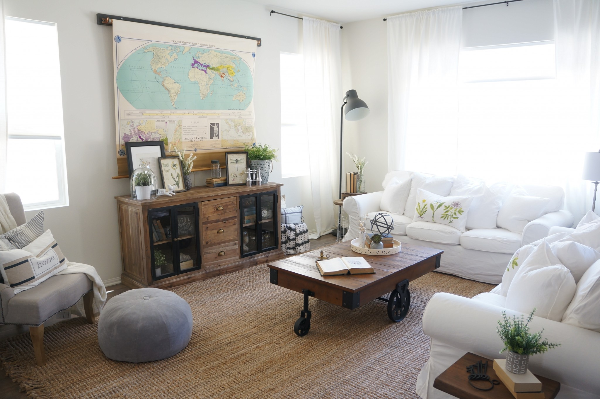 hiding tv in living room layout with corner clever and diyable ways to hide a flat screen addicted 2 use vintage map cover mounted on