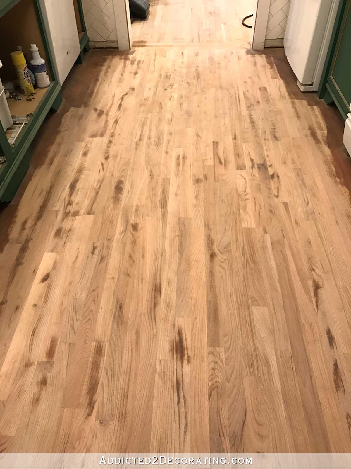 Refinishing My Hardwood Floors  Sanding Progress