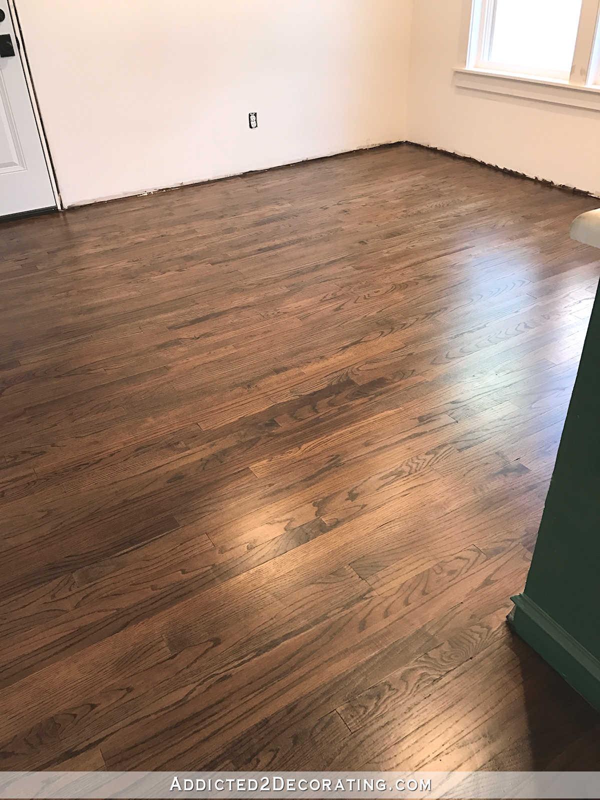 My Newly Refinished Red Oak Hardwood Floors  Addicted 2 Decorating