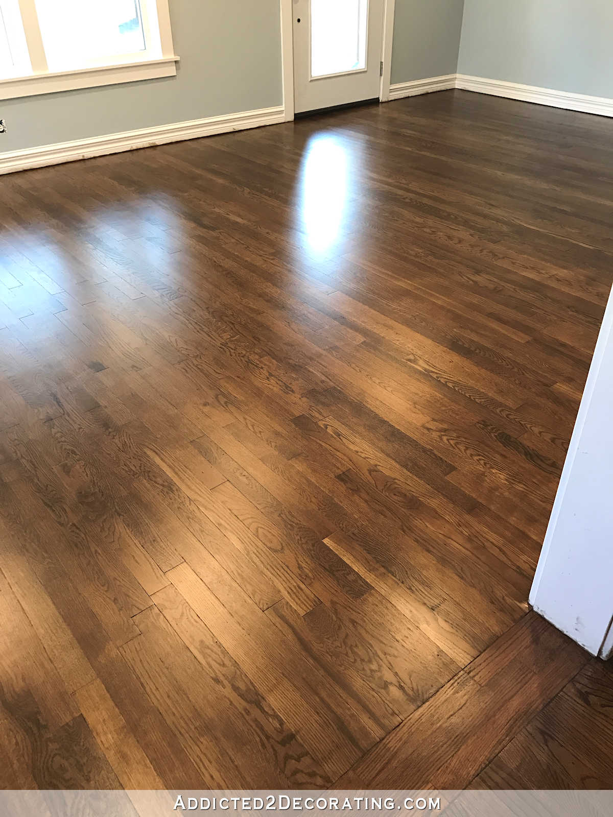oak wood floor living room dry bar my newly refinished red hardwood floors addicted 2 decorating and entryway