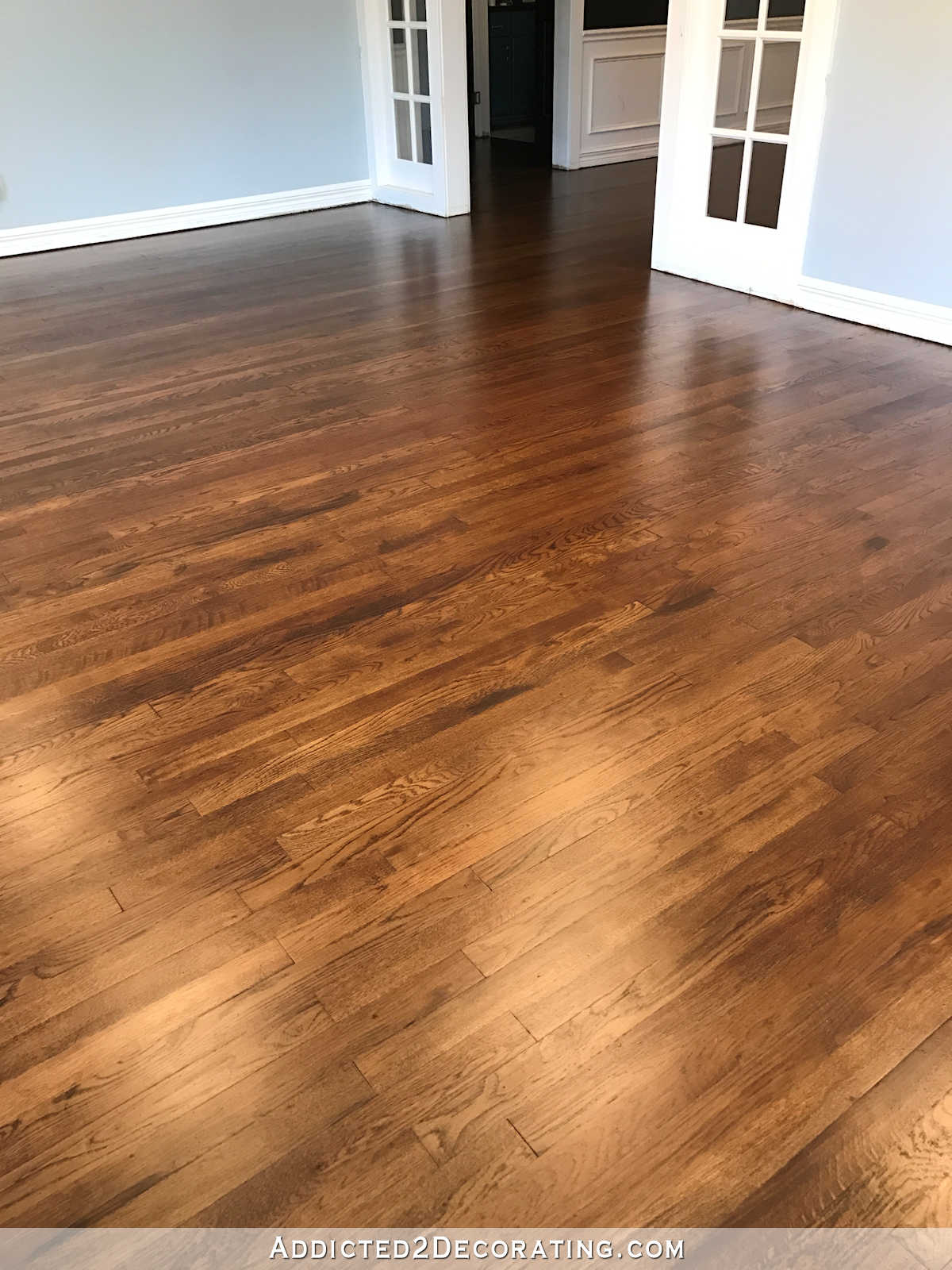 oak wood floor living room traditional formal decorating ideas my newly refinished red hardwood floors addicted 2 entryway and music