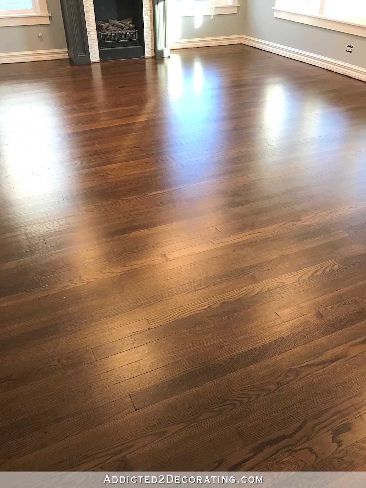oak wood floor living room shabby chic pics my newly refinished red hardwood floors addicted 2 decorating