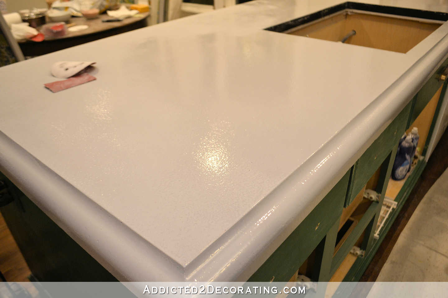 Refinishing My Concrete Kitchen Countertops Part 1 Of 3 Addicted 2 Decorating