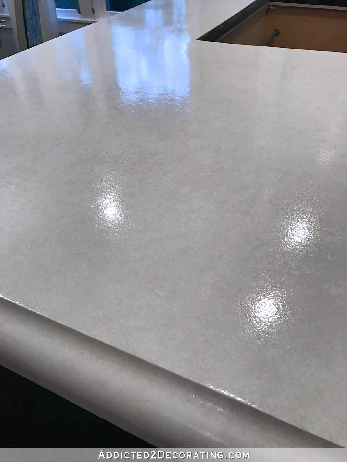 refinishing kitchen countertops stainless steel island my finished refinished concrete (top coated ...