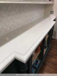 My FINISHED Refinished Concrete Countertops (Top Coated ...