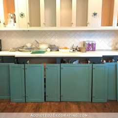 Colored Kitchen Cabinets Fryer Addicted 2 Decorating