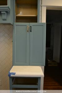 Teal Kitchen Cabinet Progress (Plus, Cabinet Hardware ...