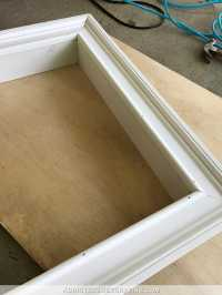 How To Build An Easy DIY Custom Frame For A Wall Mounted ...