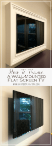 Custom Diy Frame For Wall Mounted Tv Finished Addicted 2 Decorating