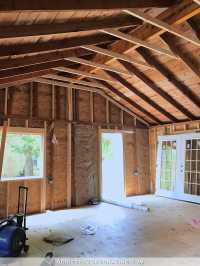 Studio Vaulted Ceiling, Ridge Line, and Decisions Made